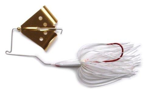 Megastrike Cavitron Buzzbait (1/4-Ounce, Red Blade White Skirt)