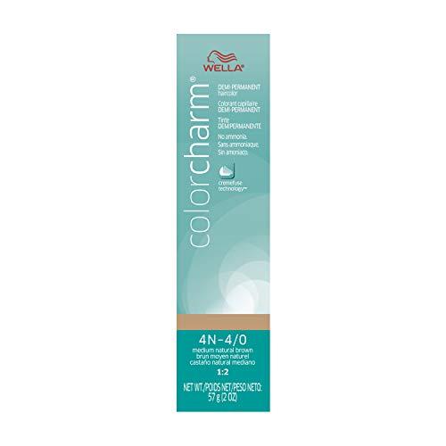 Wella Medium Natural Brown Demi Permanent Hair Color 4N-4/0 Medium Natural Brown