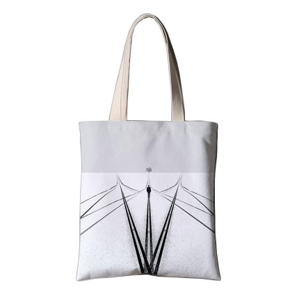 Canvas Everyday Shoulder Hand Bag,Hobo Tote Bag,Travel White Bag with Zipper for Women Men and Students
