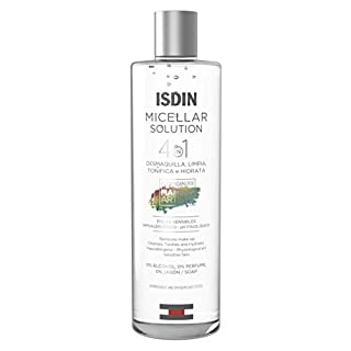 ISDIN Micellar Solution, 4 in 1 Makeup Remover, Cleanser, Hydrating Toner - Suitable for Sensitive Skin, 13.5 Fl. Oz