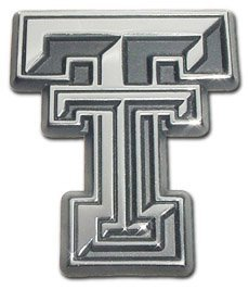 Texas Tech University Red Raiders Premium Chrome Plated Metal NCAA College Car Truck Motorcycle - University Chrome Car Emblem