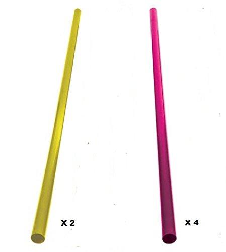 Lot 6 filtres pvc (4 roses et 2 jaunes) pour tube neon luminescent t9-36/40w 120 cm VELLEMANN