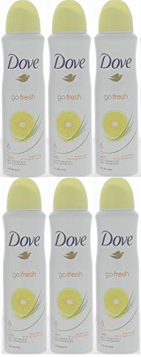 Dove Go Fresh Anti-Perspirant Deodorant Spray 150ml Grapefruit & lemongrass Scent (6 Pack) ()