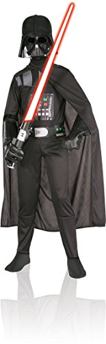 [Star Wars Child's Darth Vader Costume, Large] (Luke Skywalker Costume Black Kids)