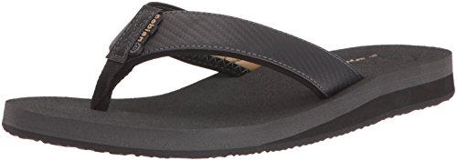 Cobian Men's Floater Flip-Flop, Carbon, 12 M US