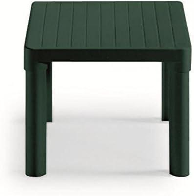 Mesita baja para exterior, color verde, mesa de resina de 47 x 47 x 38 cm de alto, mesa para jardín.: Amazon.es: Hogar