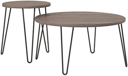 Ameriwood Home Owen Retro End Table, Weathered Oak