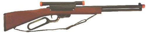 Western Repeater Rifle, Wood & Steel, Shoots Plastic Balls,Bulk -