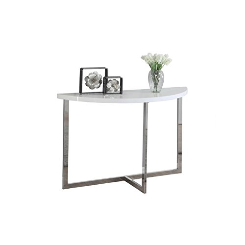Monarch Chrome Metal Console Table, 48