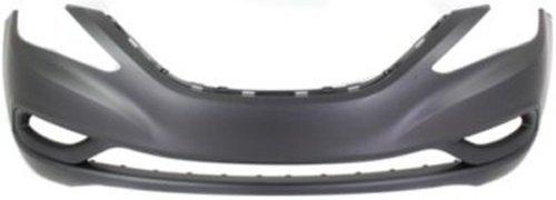 Crash Parts Plus Primed Front Bumper Cover Replacement for 2011-2013 Hyundai Sonata
