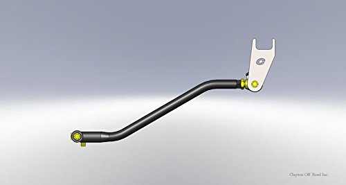 Clayton Off Road COR-4500522 TJ//LJ Adjustable Front Trackbar W//Drop Bracket