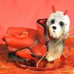 Dandie Dinmont Terrier Little Devil Dog Figurine (Dandie Dinmont Terrier Dog Figurine)