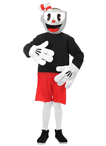 elope Cuphead Cosplay Basic Costume Kids 8-10 Red -