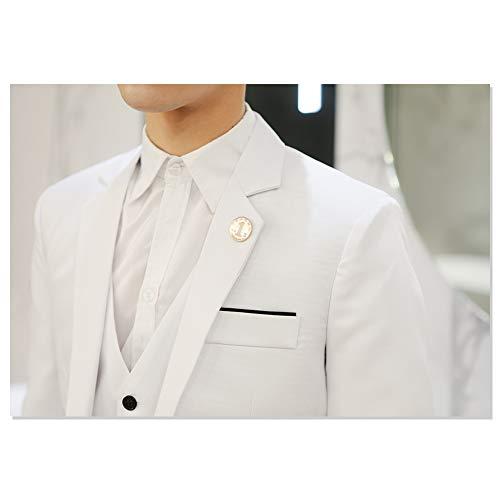 Elegante Bianco b Slim Uomo A Da Casual Blazer Abito Un Bottone Kindoyo Giacche Giacca Fit fqBtOx