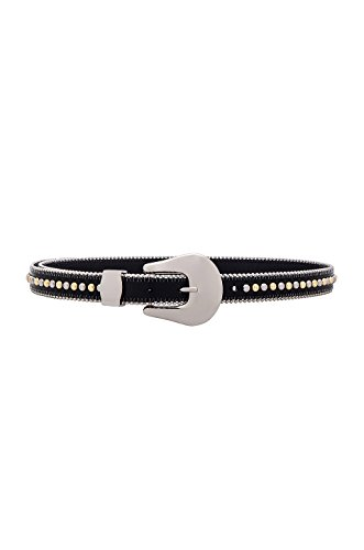 B-Low The Belt Women's Barcelona Belt, Black/Silver, Small by B-Low the Belt