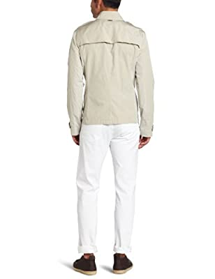 Calvin Klein Men's Double Breasted Crop Trench Coat