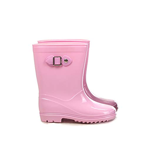 Silky Toes Boys Girls Rain Boots for Kids, Waterproof Toddler Little/Big Kids Classic Wellies (10 M US Toddler, Lt. Pink) ()