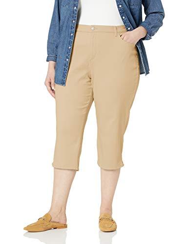 Gloria Vanderbilt Women's Amanda Capri Jeans, Perfect Khaki 12 from Gloria Vanderbilt