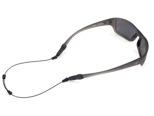 System Retainer - Croakies Arc Endless System Sport Eyewear Retainer, Black, 18