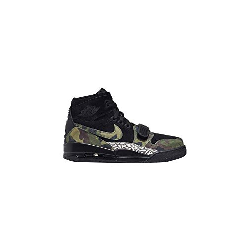 Nike Jordan Men's Legacy 312 Black/Camo Green/Volt Leather Basketball Shoes 11.5 M US (Best High Top Shoes 2019)