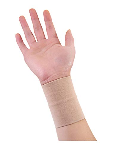 - uxcell® Unisex Reversible Stretchy Athletic Compression Wrist Band 1 Pack S Beige