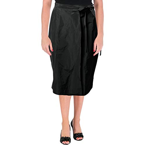 - Jil Sander Navy Womens Solid Knee-Length Wrap Skirt Black 32