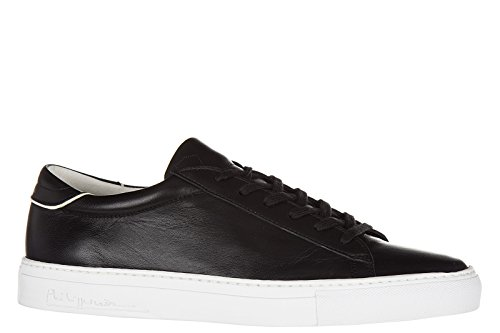 Philippe Model chaussures baskets sneakers homme en cuir avenir noir
