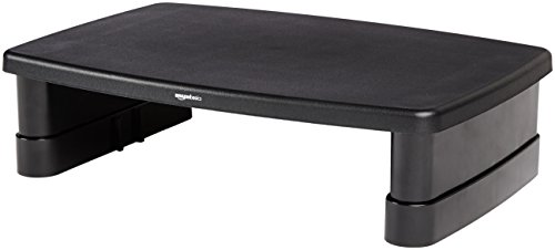 AmazonBasics Adjustable Computer Monitor Riser Desk Stand (Best Crt Monitor Ever)