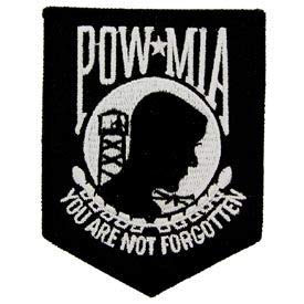 POW MIA - Patriotic Novelty Patches, Premium Quality Sew On Iron On Patch - 3.5