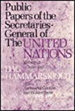 Public Papers of the Secretaries-General of the United Nations, Cordier, Andrew W. and Foote, Wilder, 023103735X