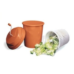 Paderno World Cuisine 5-1/4-Gallon Manual Salad Dryer