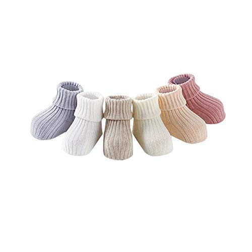 5 Colors Pack Infant Socks knitted socks Baby Socks Warm Choices Newborn To 1 Year Old Pure Cotton For Baby -