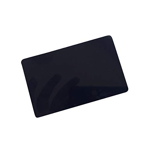 YARONGTECH-13.56MHZ ISO 14443A Blank White Printable MIFARE Classic 1K chip Plastic NFC Card,ic Card,RFID Card (Black 200 Pack)
