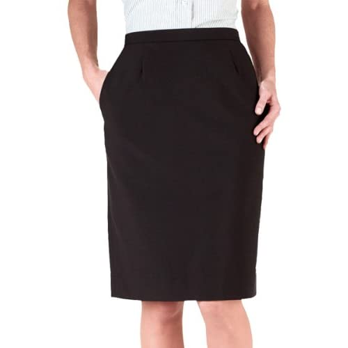 Cheap Ed Garments Women's Waistband Straight Skirt, BLACK, 16 for sale