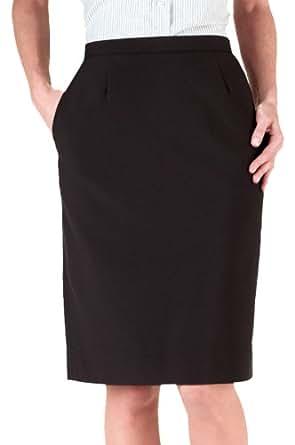 Edwards Garment Women's Waistband Straight Skirt, Black, 16