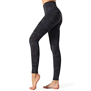 Dragon Fit Compression Yoga Pants Power Stretch Workout Leggings with High Waist Tummy Control (X-Large, Ankle-Camo)