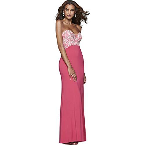 Faviana Womens Prom Strapless Evening Dress Pink 10