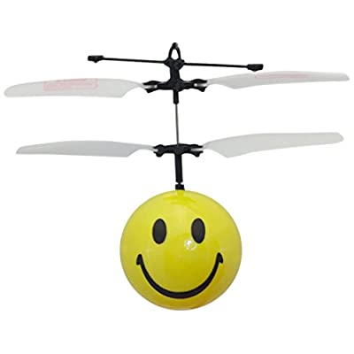 MukikiM Mini Flyer - Smiley / Watch it hover, float and fly like magic. Bring a smile to your face as you have fun flying. (Newest version featuring USB charging!): Toys & Games