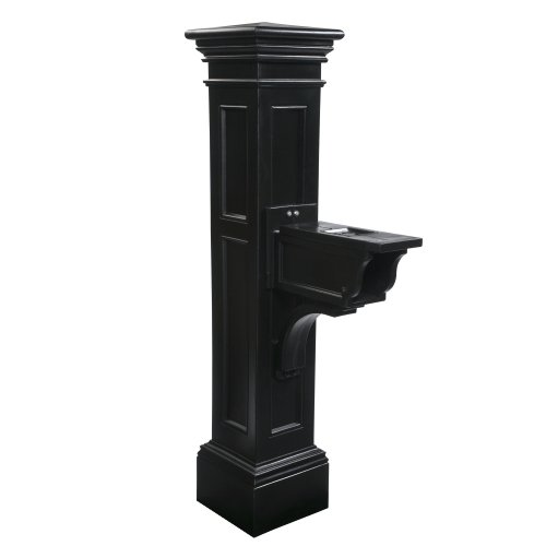 Mayne 5805-BK Liberty Mailbox Post, Black