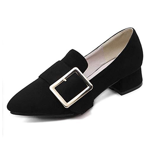 con de Zapatos de Trabajo Primavera FLYRCX Puntiagudos otoño y Damas Zapatos Moda B Ocasionales de para cómodos 58IwITdx