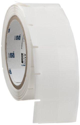 Brady THT-183-461-1 1'' Width x 1.75'' Height, B-461 Self-Laminating Polyester, Matte Finish White/Translucent Thermal Transfer Printable Label (1000 per Roll) by Brady