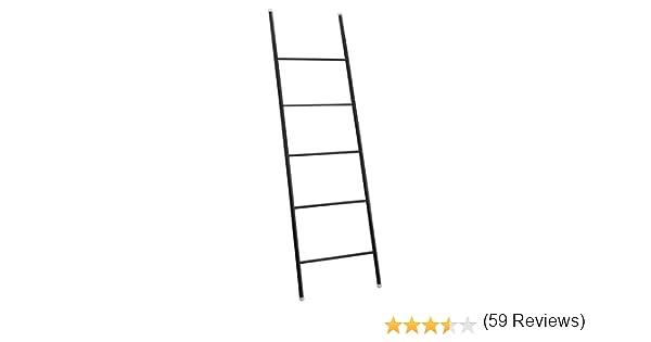 iDesign Escalera decorativa, toallero grande de metal resistente, toallero escalera con cinco peldaños para colocar toallas, mantas o revistas, negro mate: Amazon.es: Hogar
