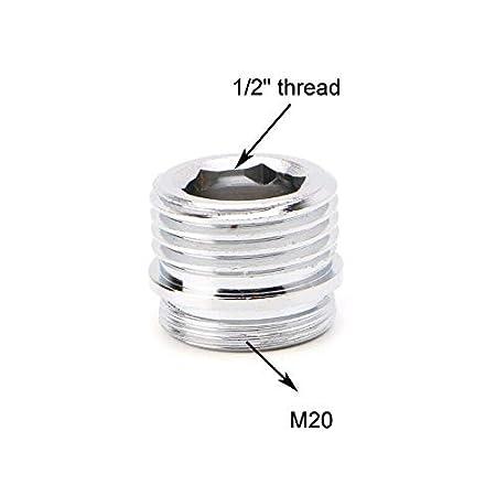 SENRISE Adaptador de grifo para purificador de agua 2 unidades, rosca de 1,27 cm plateado