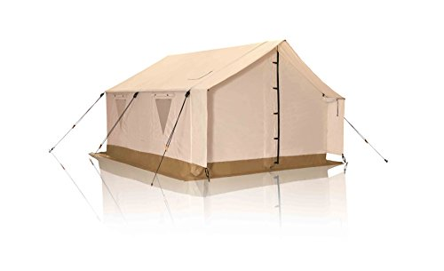 White Duck Outdoors Complete Canvas Wall Tent with Aluminum Frame and PVC Floor for Elk Hunting, Outfitter and Camping, 12'X14′ Water Repellent