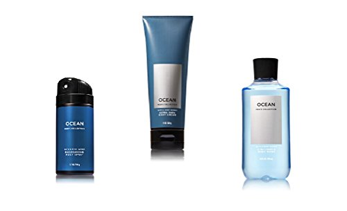 Body Him - Bath & Body Works - Signature Collection - Ocean - 2017 - 2-in-1 Hair + Body Wash - Deodorizing Body Spray & Ultra Shea Body Cream - designed just for him!