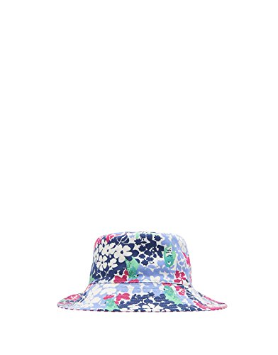 Joules Fold Away Bow Neck Cover Hat - Parakeet Ditsy - 4-7 Years Away Bow