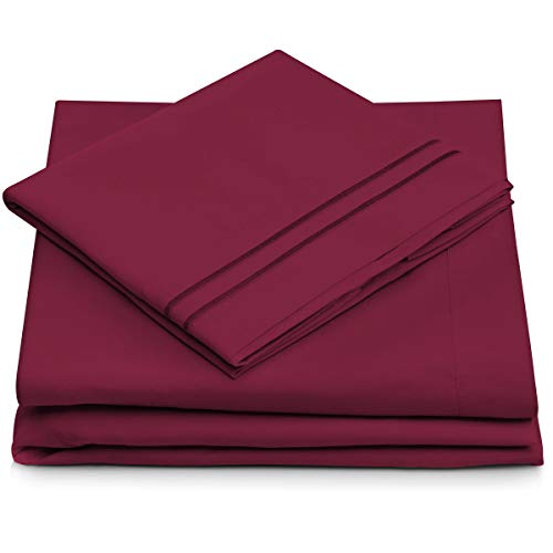 Twin XL Size Bed Sheets - Fuchsia Twin Extra Long Bedding Set - Deep Pocket - Ultra Soft Luxury Hotel Sheets- Hypoallergenic - Cool & Breathable - Wrinkle, Stain, Fade Resistant - 3 Piece