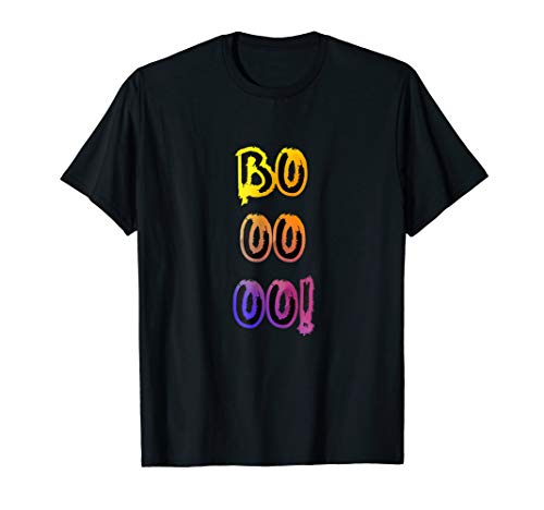 Booooo! Halloween T-Shirt With Colorful