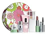 Clinique New! Summer 2012 Repairwear 7 Pcs Gift Set: Repairwear Intensive Eye Cream, Repairwear Laser Focus Wrinkle & UV Damage Corrector, Rinse-Off Foaming Cleanser, Colour Surge Eye Shadow Duo, Long Last Lipstick, Lash Doubling Mascara and One Exclusive Clinique Tin