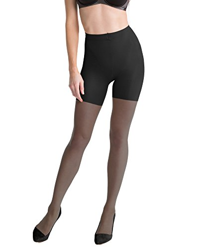 SPANX In-Power Line Body-Shaping Sheer Pantyhose Hosiery (D Black)
